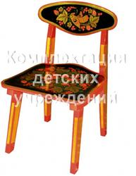 Стул детский 2-й рост. кат. с хохл. росп. (Chair for child 2 with khokhloma painting)