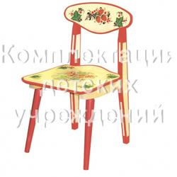 "Стул детский разборный с худож. росп. 0 рост.кат. (Chair for child 2 with ""cold"" painting (with outline))"